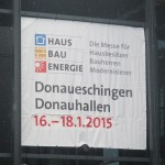 HAUS BAU ENERGIE Messe in Donaueschingen 16.-18.01.2015
